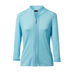 Lebek Lightweight Zip Jacket Blue