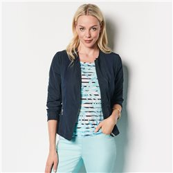 Lebek Lightweight Collarless Jacket Navy