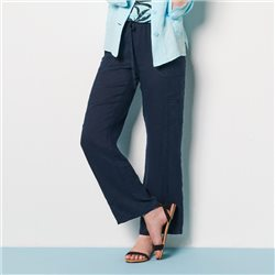 Lebek Linen Trousers Navy