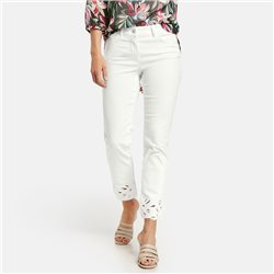 Gerry Weber Jeans With Embroidered Hem Off White