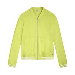 Sandwich Zip Jacket With Sporty Trim Lime
