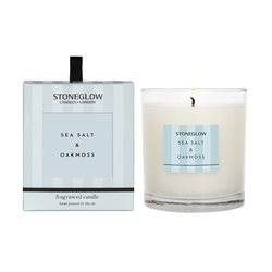 Stoneglow Modern Classics Sea Salt & Oakmoss Candle Blue