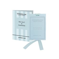 Stoneglow Modern Classics Sea Salt & Oakmoss Perfume Card Blue