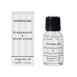 Stoneglow Modern Classics Pomegranate & Spiced Woods Fragrance Bottle White