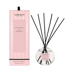Stoneglow Modern Classics Pink Peony & Gardenia Reed Diffuser Pink