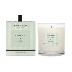 Stoneglow Modern Classics Green Fig & Cedar Candle Green