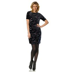 Bicalla Spot Print Dress Black
