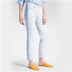 Sandwich Skinny High Waist - Slim Fit Jeans With Piping Blue