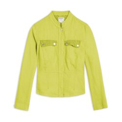 Sandwich Linen Jacket With Mesh Details Green