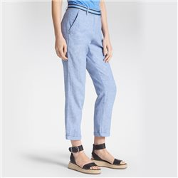 Sandwich Linen Trousers Blue