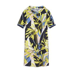 Sandwich Dress With Colourful Print Lime