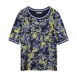 Sandwich Top With Floral Print Navy