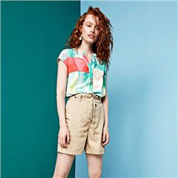 Sandwich Watercolour Print Blouse Aqua