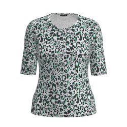 Lebek Animal Print Top Green