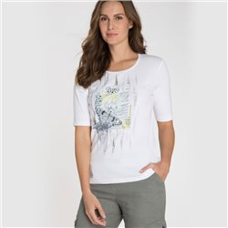Olsen T-Shirt With Butterfly Print White