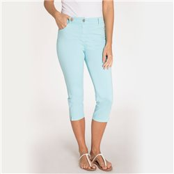 Olsen Cropped Trousers With Embellishments Aqua