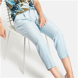 Gerry Weber Trousers With Cotton And Linen Blue
