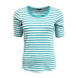 Olsen Top With Stripe Pattern Aqua