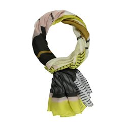 Gerry Weber Multi Stripe Detail Scarf Green