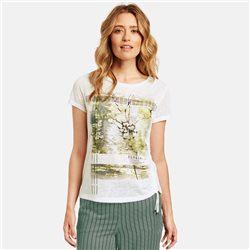 Gerry Weber Top With Gathered Detail Off White