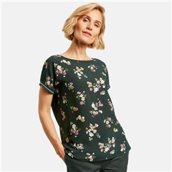 Gerry Weber Top With A Floral Print Front Green