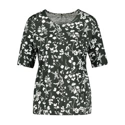 Gerry Weber Top With Ornamental Floral Print Green