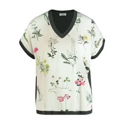 Gerry Weber V Neck Floral Front Top Green