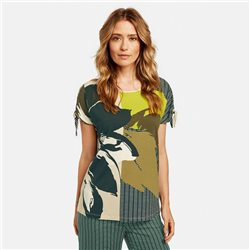 Gerry Weber Top With Patch Pattern Green