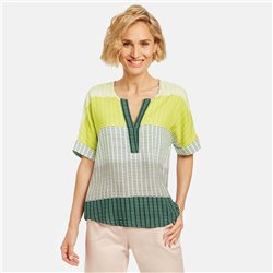 Gerry Weber Blouse With Block Stripes Green