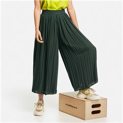 Gerry Weber Palazzo Trousers With Pleats Green