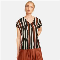 Taifun Top With Stripe Design Black