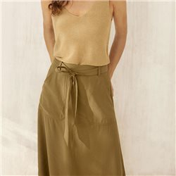 Part Two Boa Midi Skirt Tan
