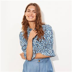 Part Two Caias Dot Print Blouse Blue