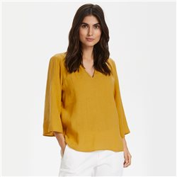 Part Two Carita Linen Blouse Gold