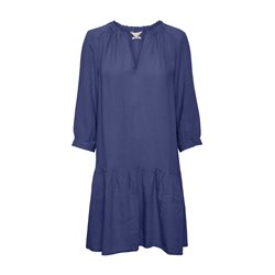 Part Two Chania Linen Dress Blue