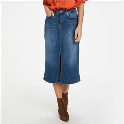 Part Two Dilin Denim Midi Skirt Denim Blue