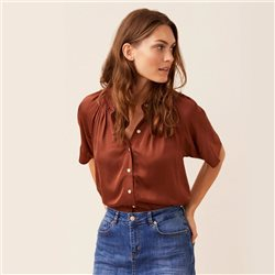 Part Two Doria Blouse Tobacco
