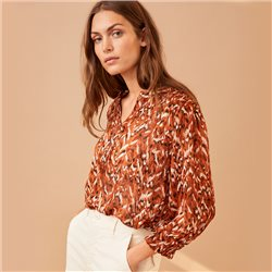 Part Two Dide Print Blouse Rust