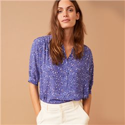 Part Two Dima Spot Print Blouse Blue