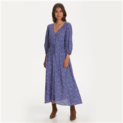 Part Two Spot Print Midi Dress Blue
