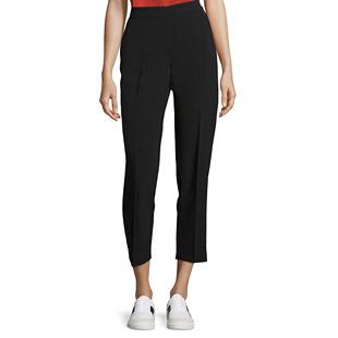 Crepe 7/8 Trousers Black