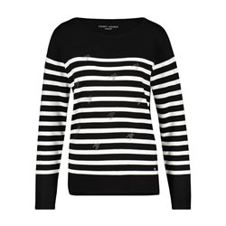 Gerry Weber Jumper With Stone Ornaments Black