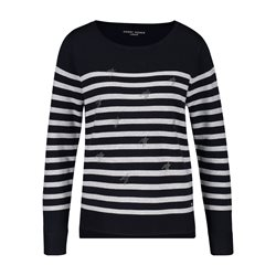 Gerry Weber Jumper With Stone Ornaments Navy
