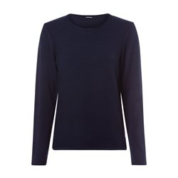 Olsen Round Neck Ribbed Jumper Navy