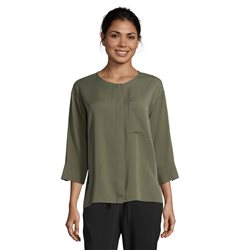 Betty & Co Button Front Blouse Green