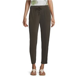 Betty & Co Pull On Trousers With Tie Belt Green