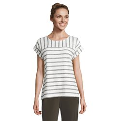 Betty & Co Textured Top With Stripes Off White