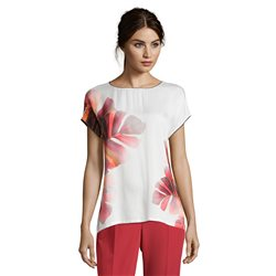 Betty & Co Flower Print Top Merlot