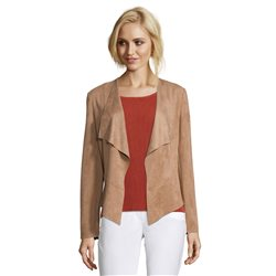 Betty Barclay Soft Touch Waterfall Jacket Camel