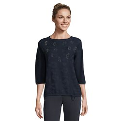 Betty Barclay Jumper With Rhinestones Navy